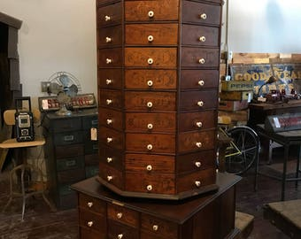 An Early U0027American Bolt U0026 Screw Case Companyu0027 Rotating Hardware Cabinet.  1895 1910   Awesome Condition