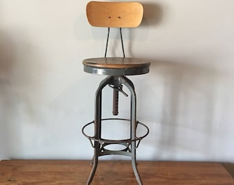 Fabulous Drafting Stool Etsy Machost Co Dining Chair Design Ideas Machostcouk