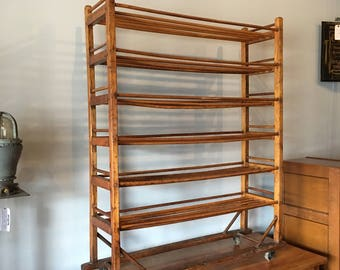 Antique Oak Bakers Rack   Perfect Storage And Shoe Rack