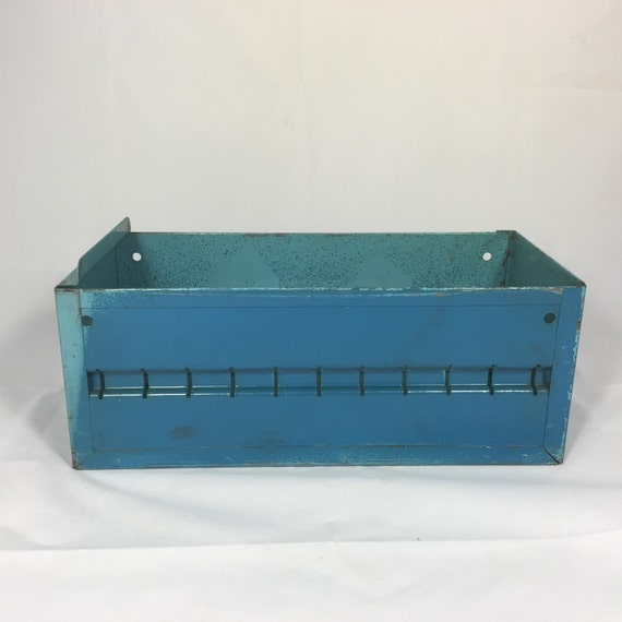 Vintage Industrial Metal Parts Bin Storage Box