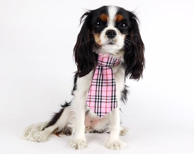 Dog Plaid Neck Tie : Unisex with Adjustable Velcro