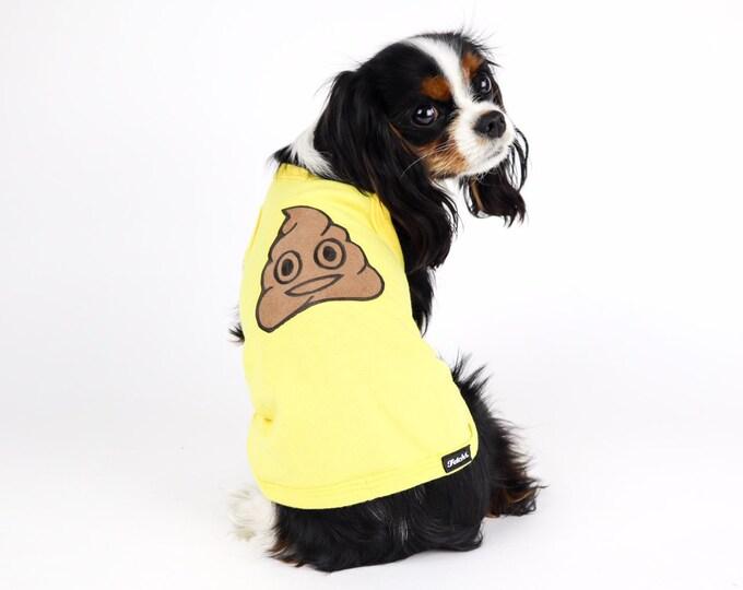 Poop Emoji Dog Shirt
