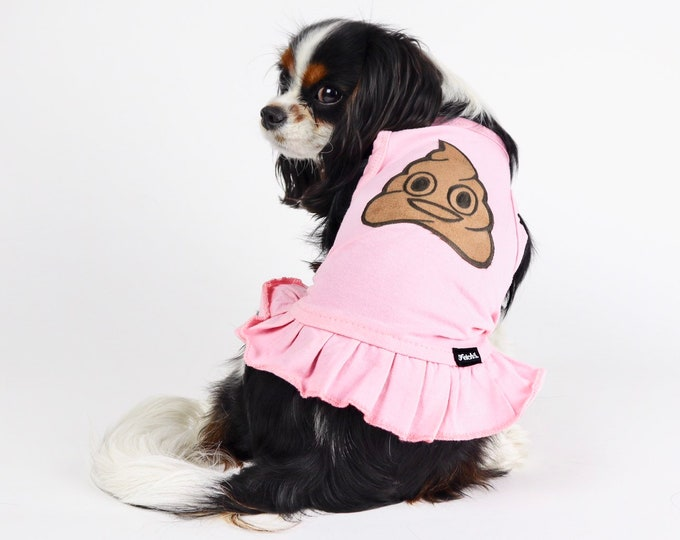 Poop Emoji Dog Dress