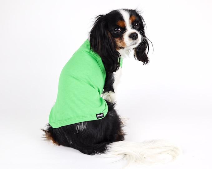 Basic Dog Tank Top Shirt:  Solid Dog Shirt, Plain Dog Shirt Many Colors Cotton Knit Free Shipping