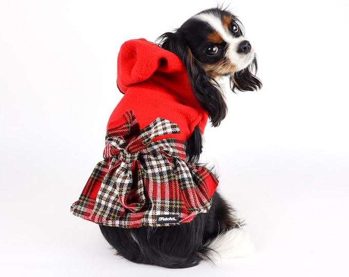 Plaid Hooded Dog Dress
