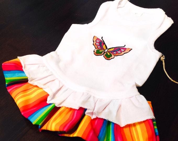 Butterfly Rainbow Dog Dress