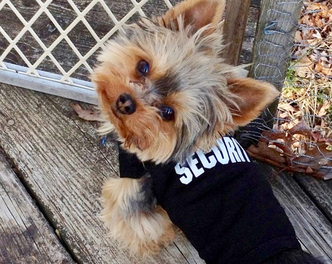 SECURITY  Dog Outfit:  Dog Tank, Dog Dress or Dog Hoodie