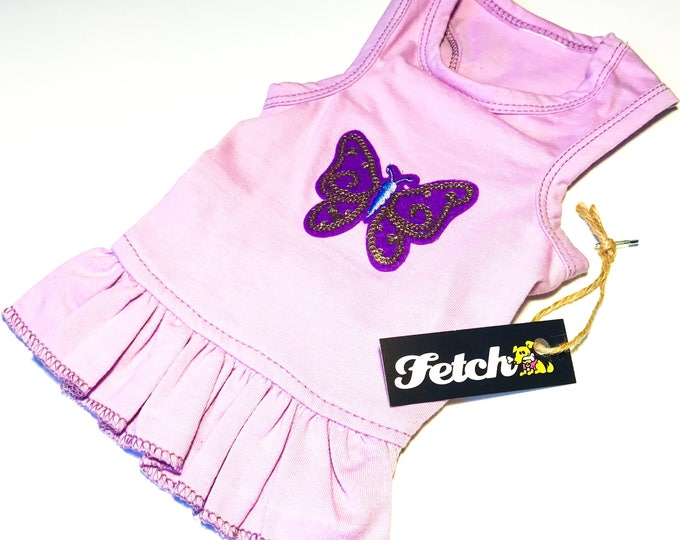 Sequin Butterfly Dog Dress