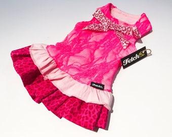 Leopard Lace Dog Dress