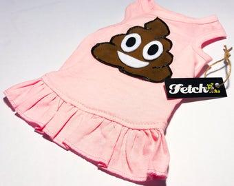 Poop Emoji Dog Dress