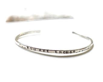 Personalized Cuff, Hand Stamped Bracelet, Custom Bracelet, Sterling Cuff