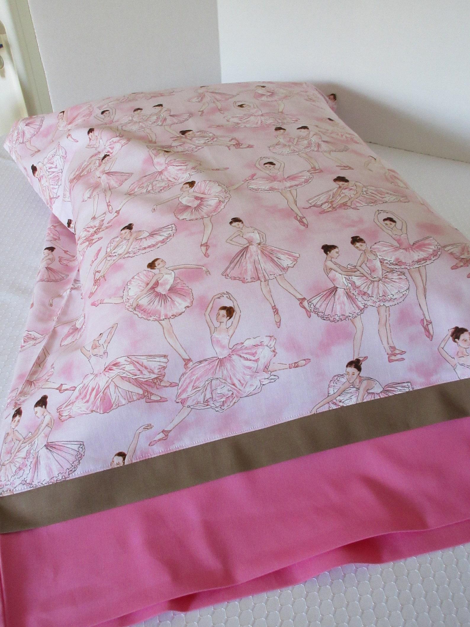 ballerina pillowcases, kids who love dance, ballet lovers gift, girl's pillowcase, gifts for ballerinas