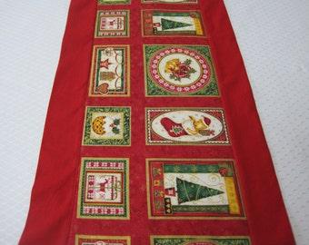 Table runner, Tablerunner, Christmas, Christmas table linens, Christmas tablerunner, Red table runner, Holiday table linens, Festive linens