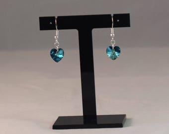 Blue Swarovski Earrings