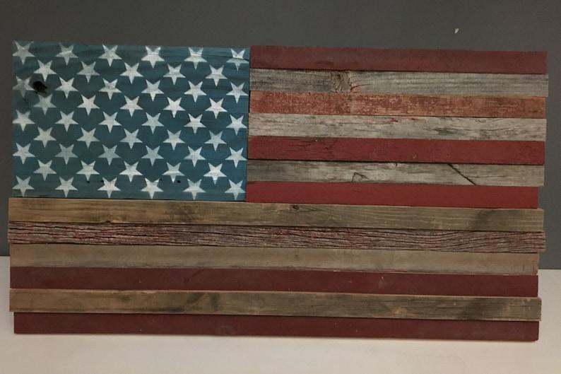 "Huge 24/"" Country Rustic Patriotic American Pride Barn Star Flag Wall Art Decor"