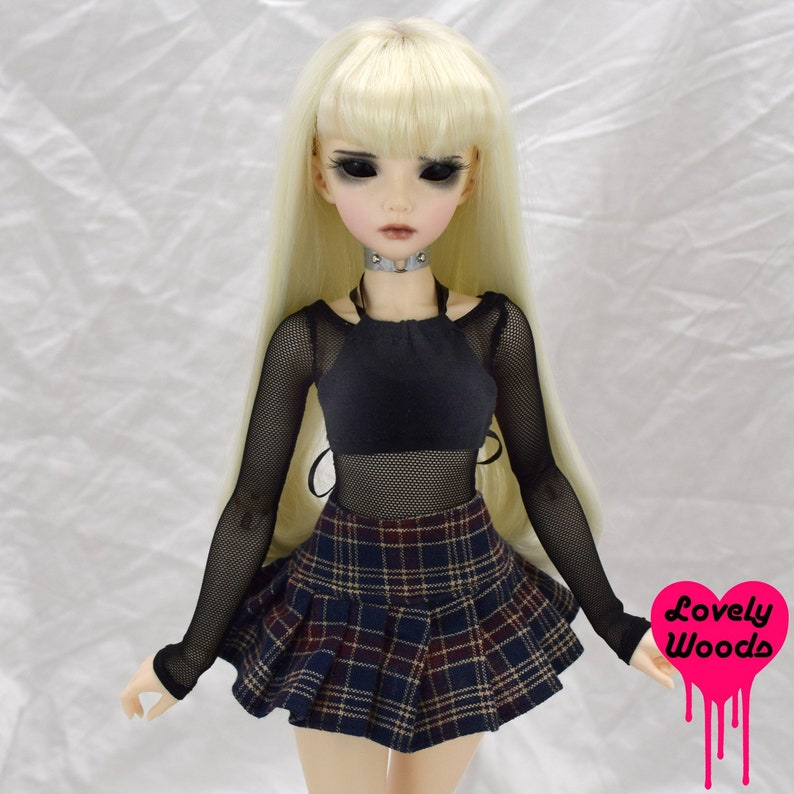 a589738d00b75 Minifee Bjd Pleated Mini Skirt High Fashion Doll Pastel Goth | Etsy