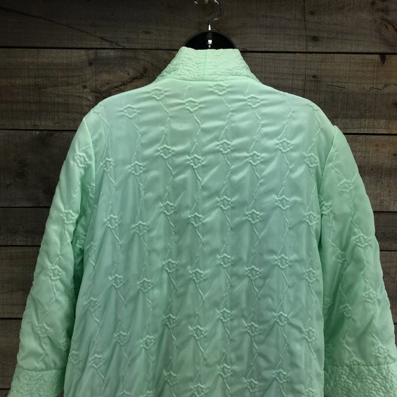 Quilted Satin Robe Housecoat EST XL Vintage 1950'… - image 8