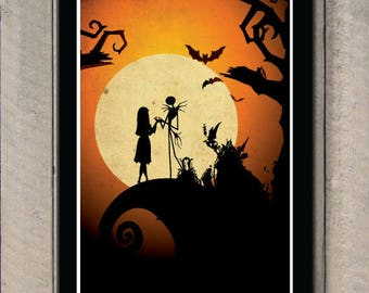 The Nightmare Before Christmas Art Film Poster Classic Movie Poster