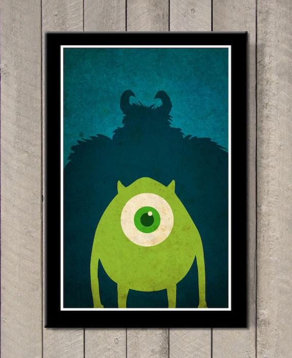 Disney Pixar Movie Poster Monsters Inc