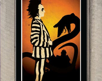 Beetlejuice Art Film Poster Classic Movie Poster