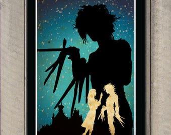 Edward Scissorhands Art Film Poster Classic Movie Poster