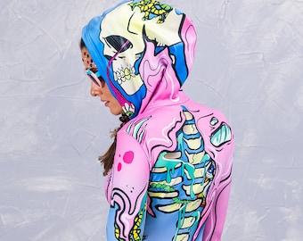 Kawaii Skeleton Bodysuit Skeleton Onesie Skeleton Jumpsuit  74d7354a65