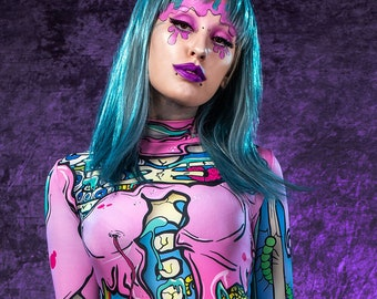 kawaii skeleton costume pastel goth halloween costume kawaii skeleton bodysuit creepy cute halloween costume funny skeleton catsuit