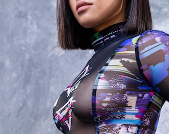 Sexy Bodysuit, Rave Catsuit, Transparent Bodysuit Woman, Mesh Catsuit, Mesh Leotard, Mesh Bodysuit, See Through Bodysuit, Fishnet Bodysuit