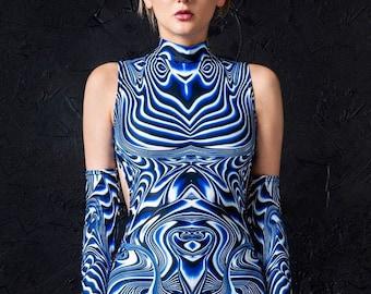 clothing-Festival Wear-burning man-hippie gothic-cyber-Fairy dress-braided dress-shredded dress Handmade Cut Maxi Dress-psychedelic