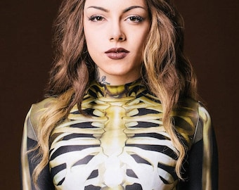 24b389ad39c Skeleton Bodysuit Women, Festival Clothing, Rave Clothing, Festival Bodysuit,  Sexy Bodysuit, Womens Cosplay Costume, Steampunk Clothing