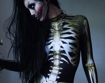 Skeleton Costume Etsy