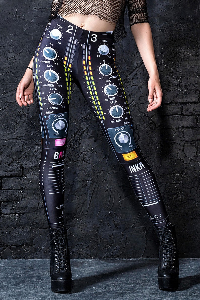 f17a9ecfa715 Rave Festival Leggings pantacollant musica Leggings