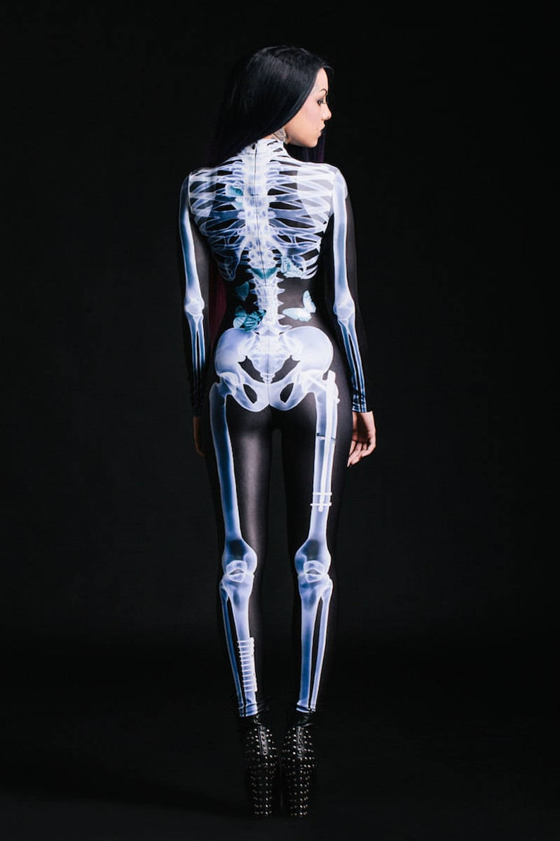 Halloween Costume Womens Skeleton Costume Cosplay Costume image 2