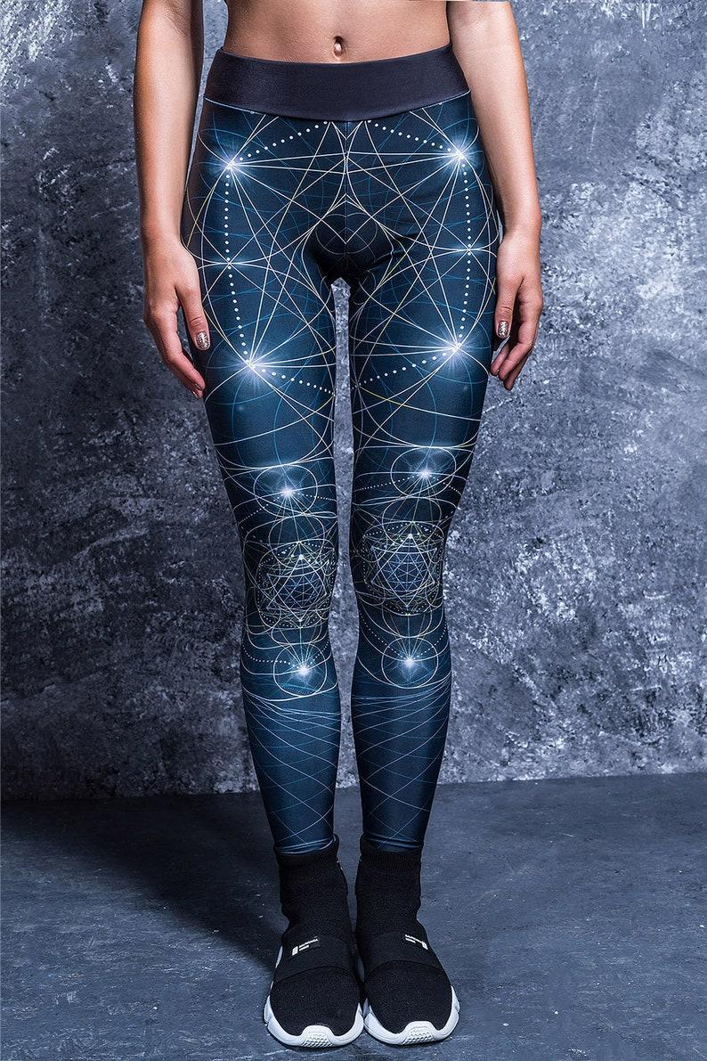 4e254dbcad4 Legging de fitness pantalon Yoga noir imprimé jambières