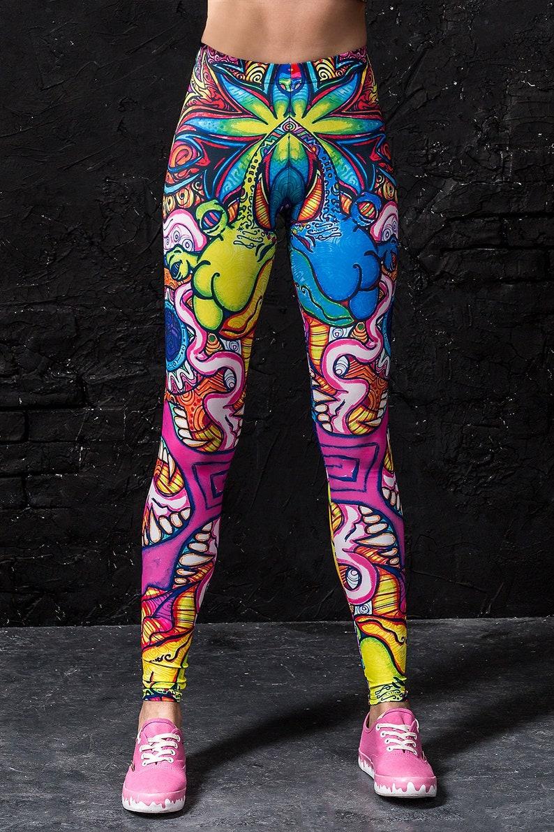 0c901a05973e8 Rave Leggings Techno Clothing EDM Leggings Rave Gifts for   Etsy