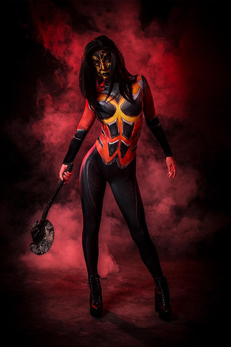 415f3f343ae Sexy Devil Costume Women, Demon Costume, Halloween Devil Costume Adult, Red  Devil Bodysuit, Superhero Costume, Cyberpunk Costume for Women