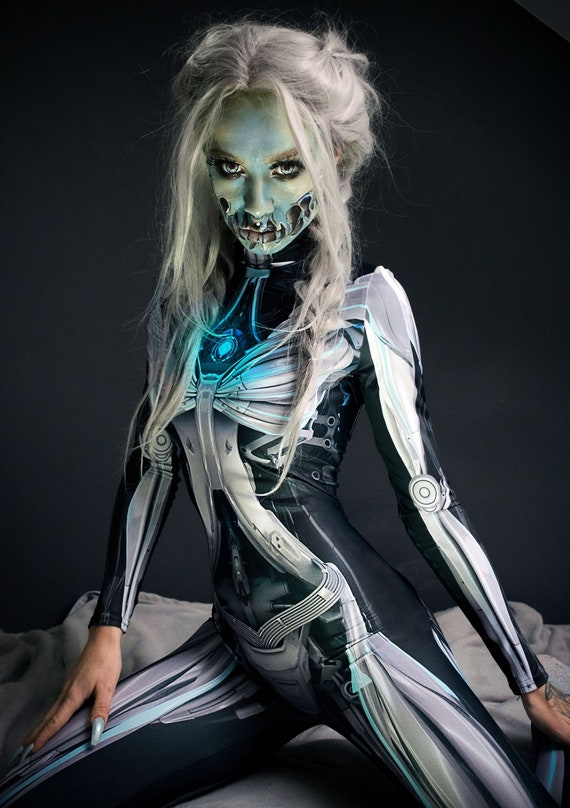Halloween Costumes For Women 2019.Halloween Costume Women Cosplay Costume Women Cyberpunk Clothing Sexy Halloween Costume Sexy Cosplay Robot Costume Festival Clothing