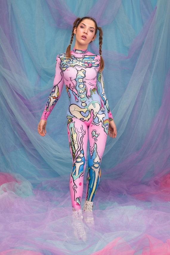 Kawaii Skeleton Costume, Halloween Costume Women, Pastel Goth Halloween  Costumes Women, Adult Halloween Costume, Womens Halloween Costume