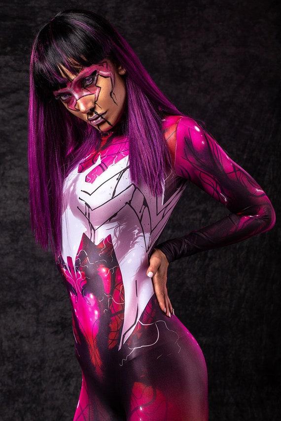 Venom Inspired Halloween Costume Women, Cosplay Halloween Bodysuit, Sexy  Costumes for Women, Superhero Costume, Sexy Halloween Catsuit