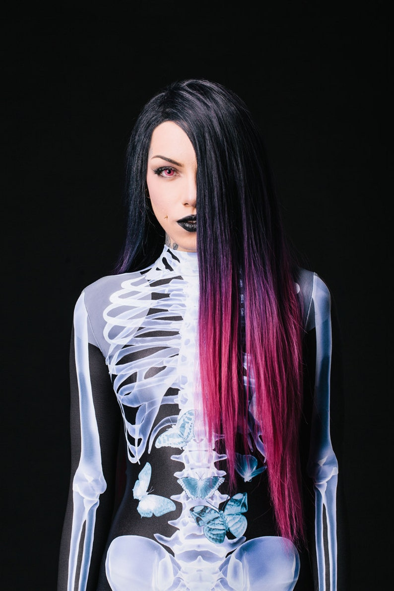 Halloween Costume Womens Skeleton Costume Cosplay Costume image 0