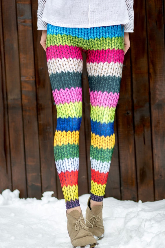 Leggings, Printed Leggings, Wool Leggings, Warm Leggings, Yoga Leggings, Yoga Clothes, Printed Clothing, Yoga Pants, Boho Leggings Women