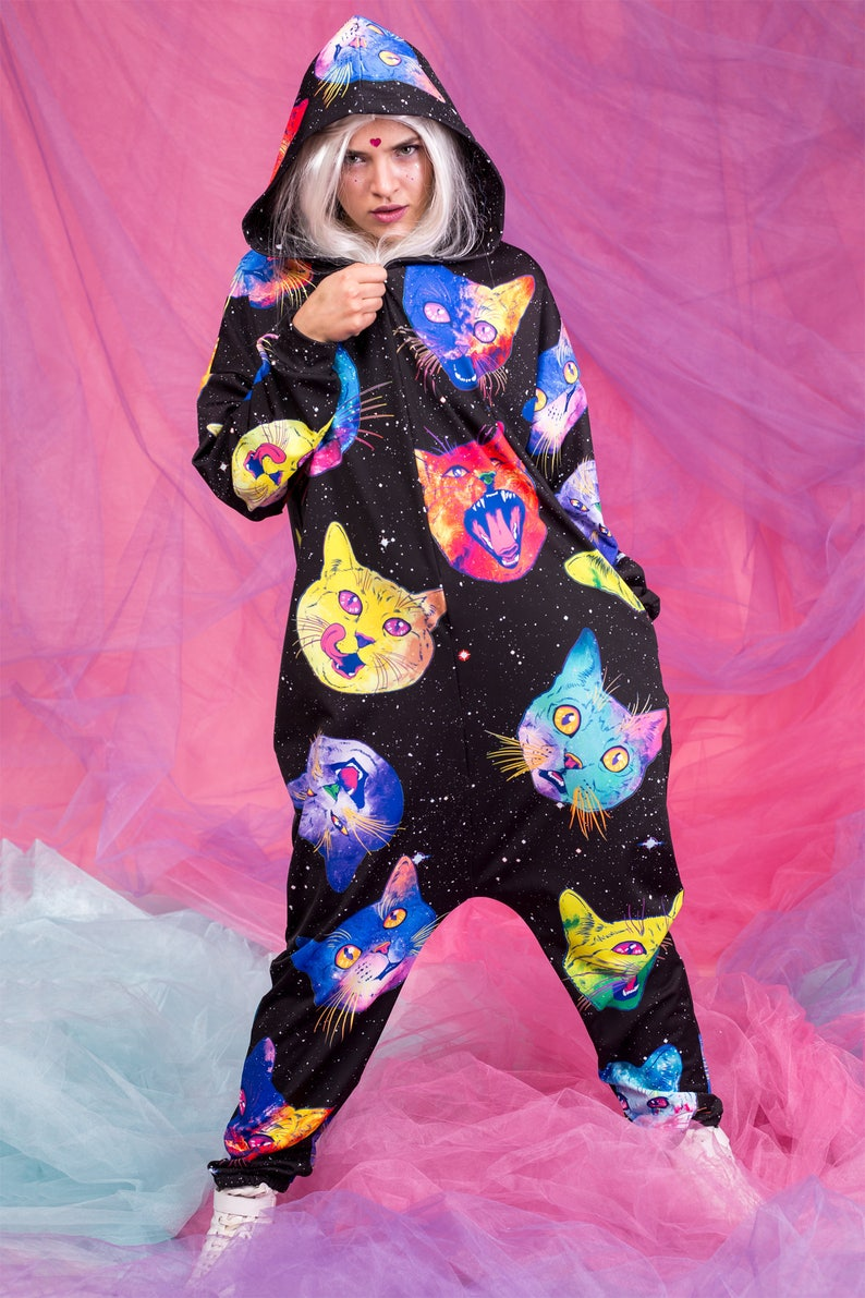 6fd66ea3308b Plus Size Costumes Adult Pajama Funny Cat Clothing Cosplay