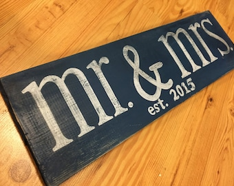Marriage Wedding sign, hand painted, handmade, folk art, cottage chic home decor, retro, house, condo, apartment, First Home