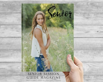 Magazine Template - Senior Photography Marketing / Senior Photography Template / Senior Portraits Magazine