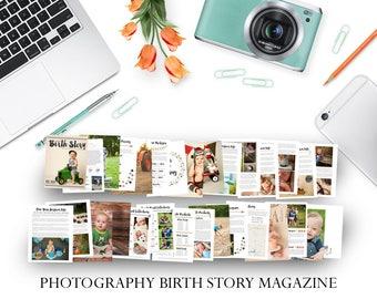 Photographer Client Birth Story Magazine  - Photographer Template