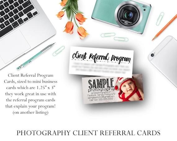 Fotograf-Client-Überweisung-Programm-Karten / Fotografie   Etsy