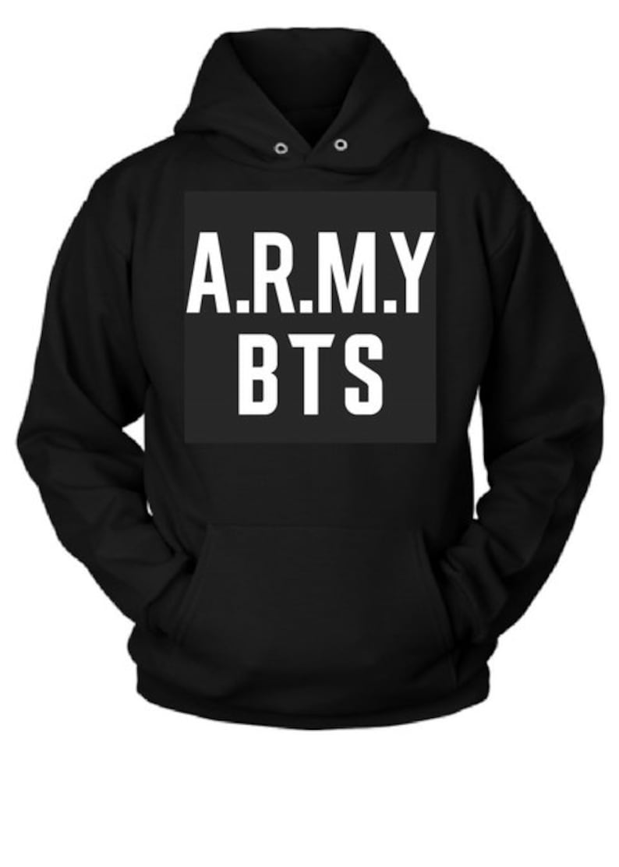 e038be7401ce Army BTS 2018 New Logo Fleece Pullover Hoodie Bangtan Boys