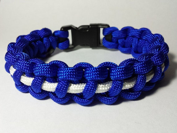550 Paracord Keychain The Thin White Line EMS