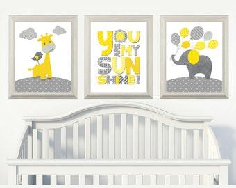 Babyzimmer mädchen gelb  INSTANT DOWNLOAD gelb grau Giraffe Elefant Dream Big kleinen | Etsy