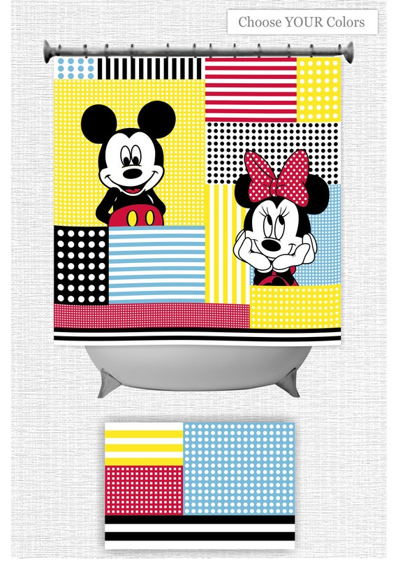 Mickey Mouse And Minnie SHOWER CURTAIN Brother